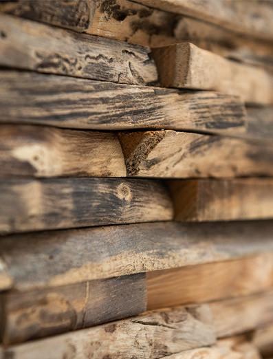 Mur de bois de clinique